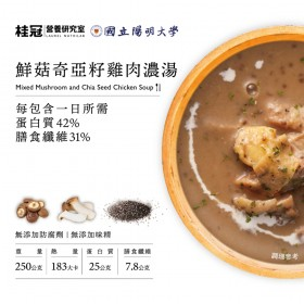 鮮菇奇亞籽雞肉濃湯